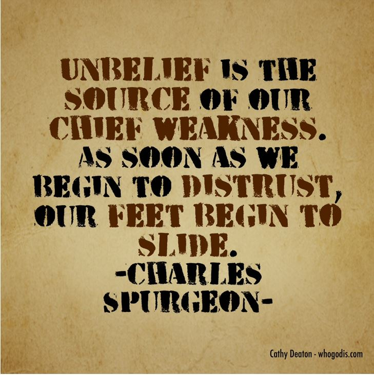 unbelief source of weakness