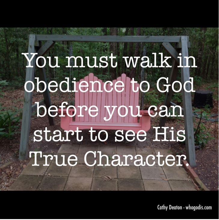 walk in obedience see gods character