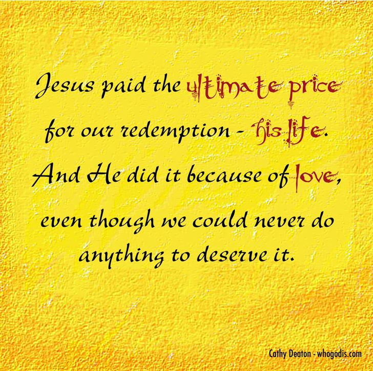 jesus paid the price for our redemption