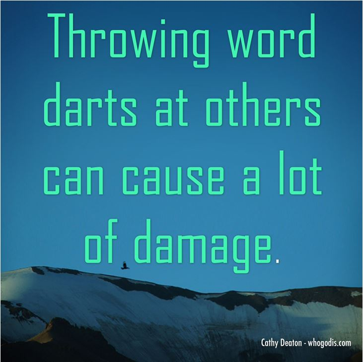 throwing word darts can cause damage