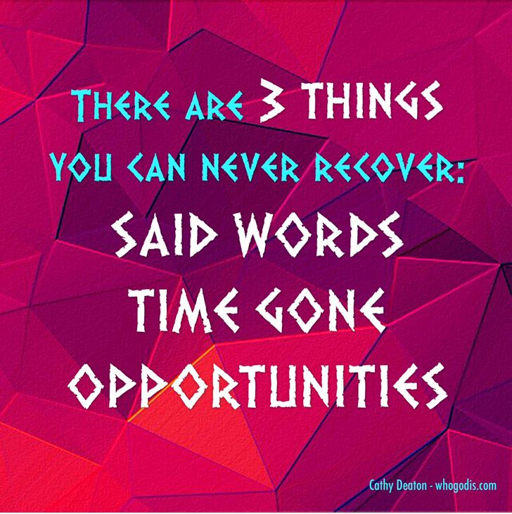 3 things you dont recover