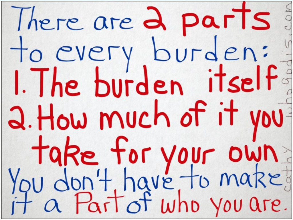 2 parts to every burden