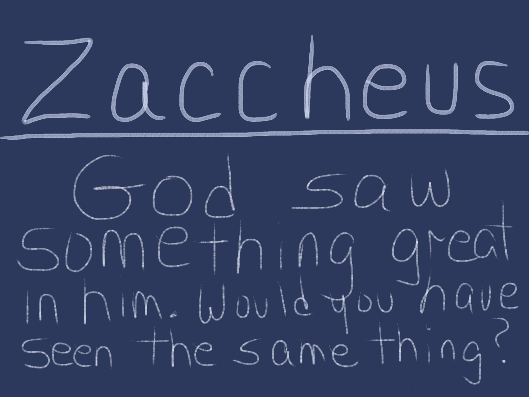Would You Have Given Grace To Zaccheus?