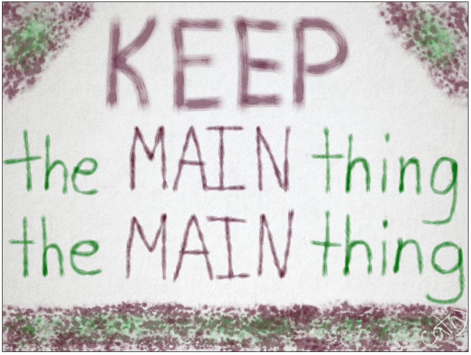 keep-the-main-thing