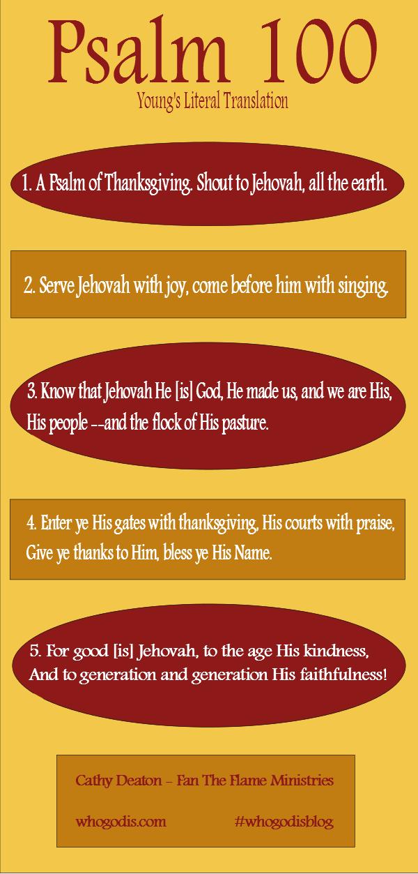 Psalm 100 God is good and faithful