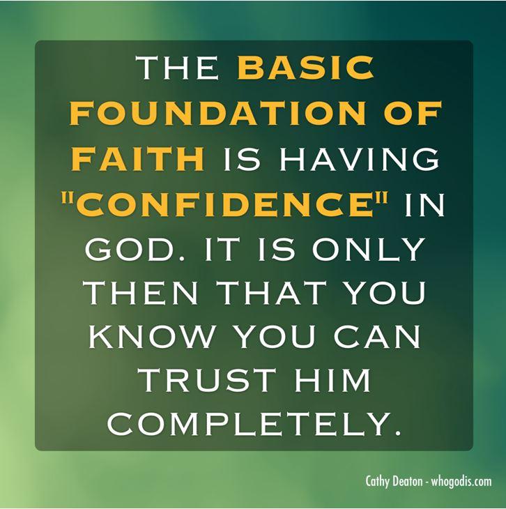 basic foundation of faith