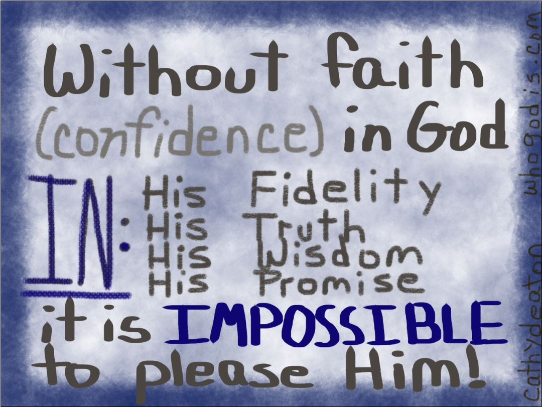foundation of faith is confidence in God