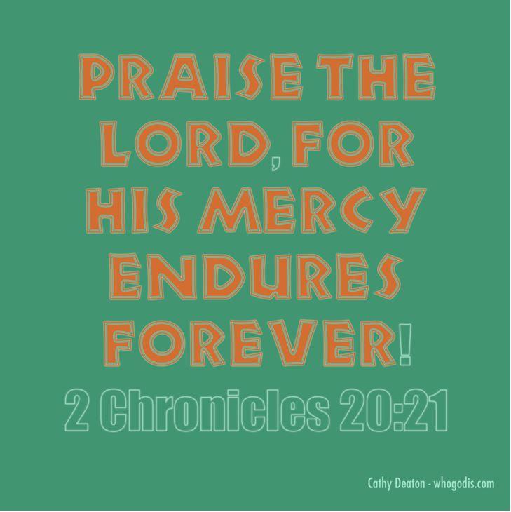 gods mercy endures forever