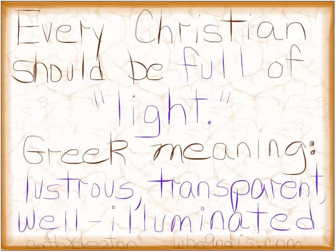 christian full of light